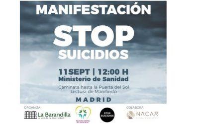 Manifestación Stop Suicidios